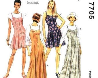 McCall's 7705 Misses' Sassy Jumpsuit and Rompers / 1995 SZ10-14
