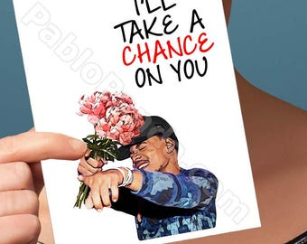 Anniversary Gift | Chance The Rapper | Cocoa Butter Kisses No Problem One Year Anniversary Boyfriend Anniversary Boyfriend Card Card For Men