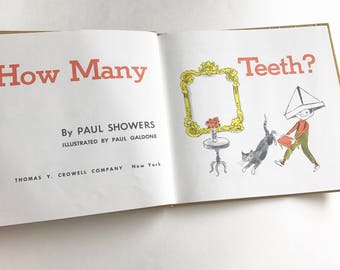 "1962 ""How Many Teeth?"" by Paul Showers Hardcover Book"