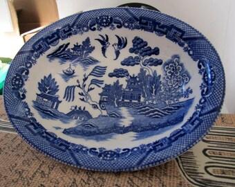 Blue bowl Occupied Japan