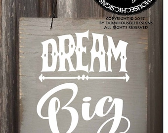 dream big, dream big little one, dream big sign, dream big little one sign, dream decor, dream decoration, dream big art, dream big gift