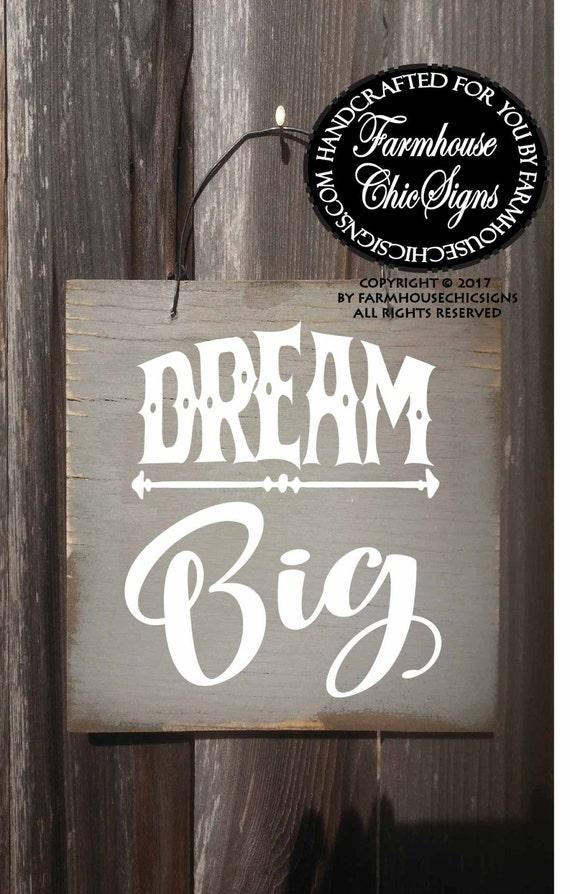 Mini Dream Big Sign