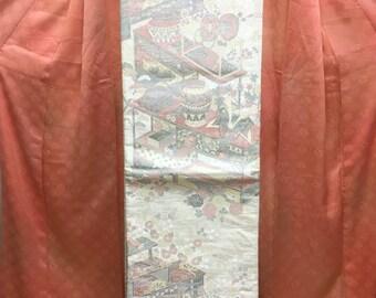 "OBI Fukuro Obi "" treasure of residence ""beautiful Nishijin Kimono obi good condition"