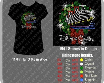 Disney Cruise (Christmas Edition) Rhinestone T-Shirt, Tank or Hoodie