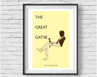 The Great Gatsby Poster- Minimalist, Great Gatsby Print
