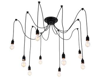 Chandelier Vintage Design Bulbs Included Living 10 Lights(Free shopping)