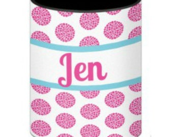 Personalized/Stylish/ Riley Pattern/ Fits 12, 16 oz. or long neck bottle