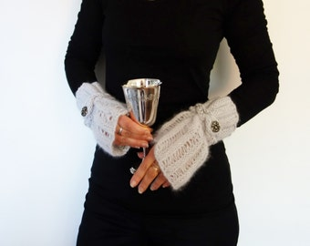 The NEW MOON black french lace cuffs black lace cuffs goth