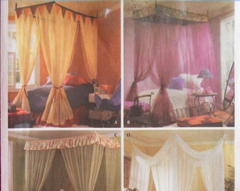 Simplicity 4532.  Simply Teen.  Bed canopies for twin and double bed.  Sewing pattern. Andrea Schewe design.  Home decor. Bed canopy.