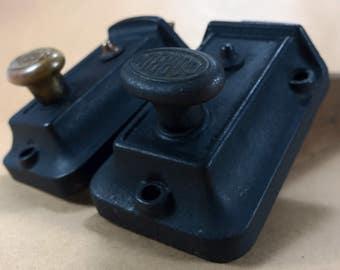 Vintage dead bolt locks, corbin cast iron lock