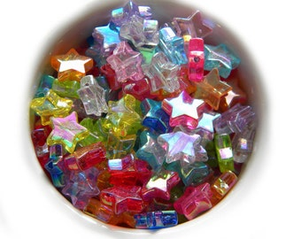 20 MIxed AB Star Beads