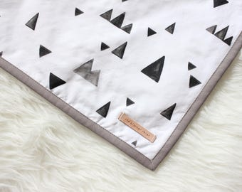 Charcoal Mountains Everyday Minky Blanket