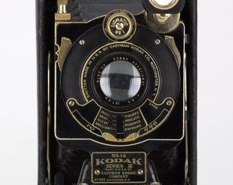 Antique c1924 Kodak No.1A Series III Folding Camera w/ Diomatic No.1 Shutter – Home Decor Collector Piece