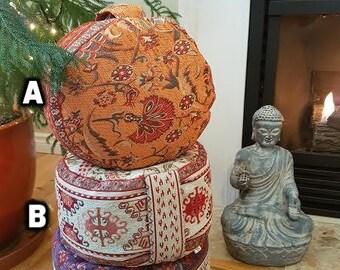 Meditation Cushion- Colourful, Plush and Rich Aztec Series- Zafu
