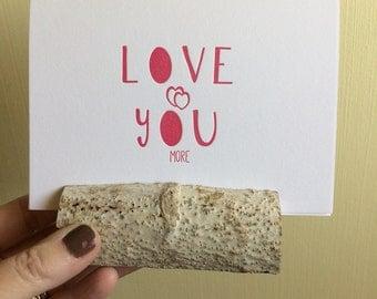 Valentine Love You Card