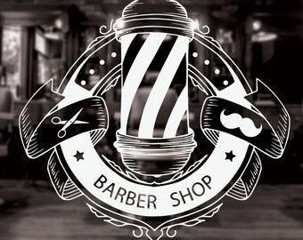 Barber Shop Sign, barber shop decor, barber shop decal