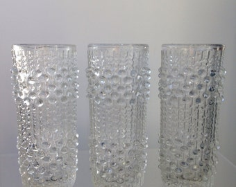 Set of 3 candle wax Sklo candlewax vases Frantisek Peceny design 70