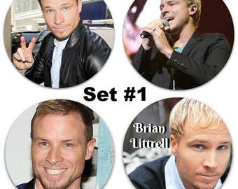 """Set of 4 Brian Littrell Large 2.25"""" Pinback Buttons or Magnets - Choose Your Favorite Set Backstreet Boys BSB"""