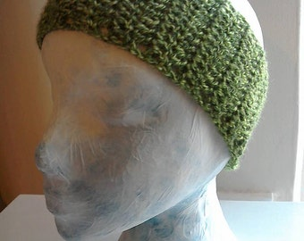 Green Headband, ear warmer, crochet headband, hairband, knitted headband, wool headband, wool earwarmer, crochet earwarmer, headwrap