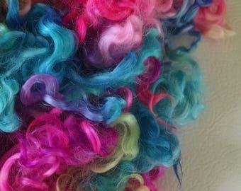 Teeswater Locks - Curls - Hand Dyed Locks - Doll Hair - Spinning - Felting - Lockspinning - Wool Locks - Troll Hair - Blythe - Locks - Hair