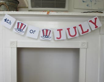 4th of July Banner July 4th Banner