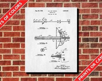 Fencing Foil Poster Fencing Art Fencing Foil Blueprint Fencing Foil Patent Print Sports Poster