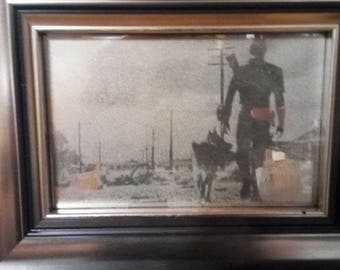 Fallout Mirror engrave