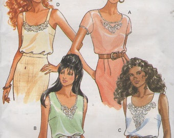 Misses  Pull Over Tops  Sewing Pattern Size 12 14 16  Butterick 6864  Uncut Bust 34 36 38