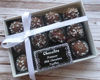 Monochrome (Black & White) Gift Box with Chocolates of Your Choice - Personalised Gift