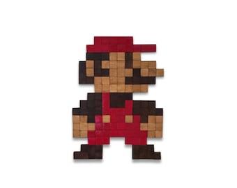 Nintendo's Mario Wooden Wall art