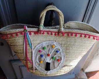 tree of life beach bag, basket, beach