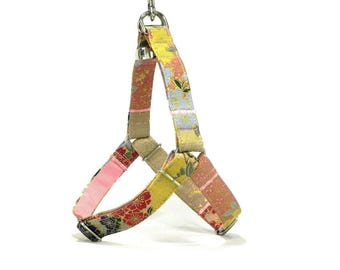 THE LAST PIECE! Floral Dog Harness with Japanese Fabric, Komachi