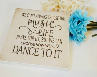 Music sign,  music of life sign, inspirational quote,  inspirational sign,  family sign, music gift, music lover gift, music is life