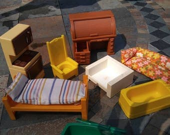 Vintage LOT of Fisher Price Furniture