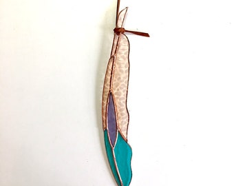 Diamondeye Stained Glass Feather