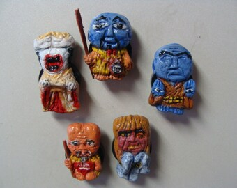 Youkai Monsters Magnet Set (Cutie Style/fullbody) Made in Japan by Yokai-John For Mod World