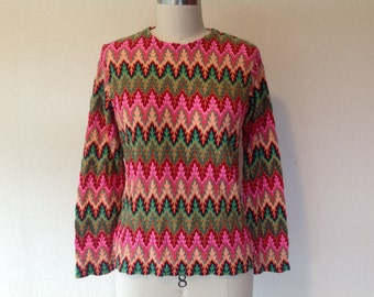 1960s Psychedelic knit top