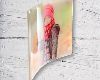 Little Young Girl Curved Personalized Sublimation Glass Frame SG-26