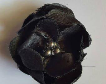 Black flower barrette
