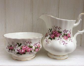 SALE - Royal Albert bone china milk/creamer and sugar bowl - Lavender Rose