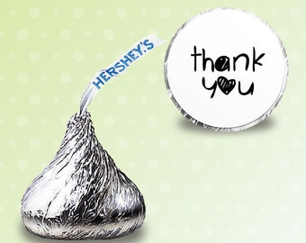 96 x  Hershey kiss stickers - [thank you] Candy Stickers