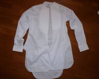 shirt vintage cotton pique bib