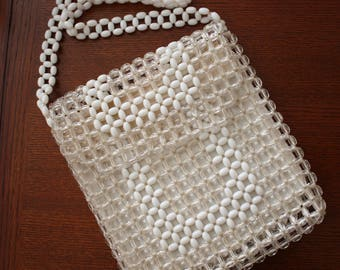 Vintage 60s Delill Made in Hong Kong Beaded Handbag/Purse