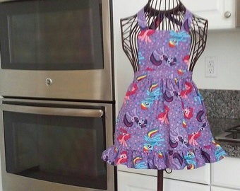 My little pony girls apron!  Size small ready to ship.