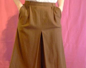 Brown 70s Vintage midi trousers