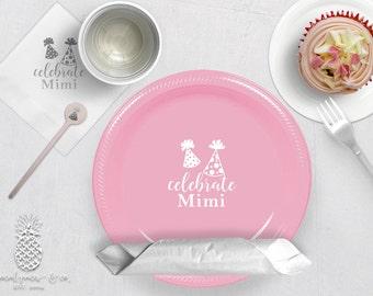 Personalized Plastic Cups | Personalized Plastic Plates | Monogram Napkins | Personalized Stir Sticks | Party Plates, Napkins or Cups
