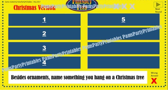 christmas friendly feud game one- family feud - interactive, Powerpoint templates