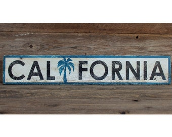 READY TO SHIP! California Painted Wood Sign