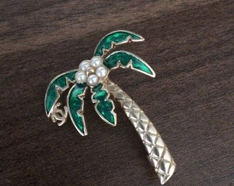 Chanel Palmtree Pin Brooch