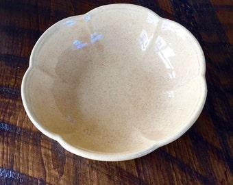Vintage McCOY BOWL, Scalloped Sides No. 7528, Made in USA